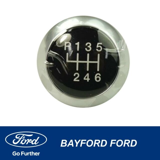 GENUINE FORD RANGER PX (XL-PLUS) TOP CHROME GEAR SHIFT KNOB 6 SPEED MANUAL