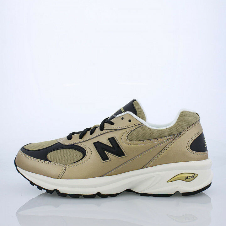 NEW Men New Balance ML498GB Gold Leather Running Walking Shoes Size 12 D
