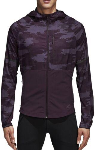 adidas Ultra Graphic Mens Running Jacket Purple
