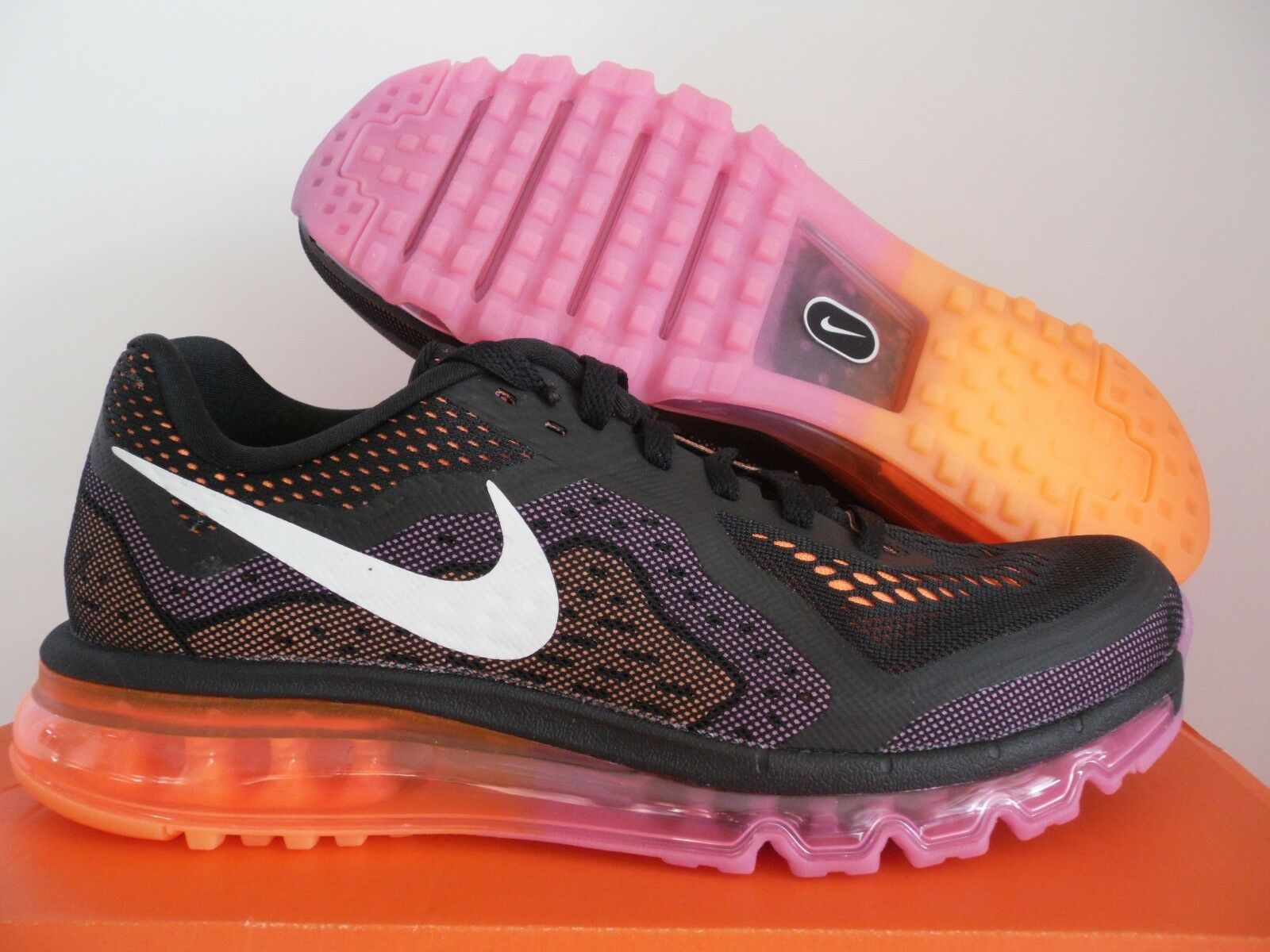 femmes  NIKE AIR MAX 2018 Noir -SAIL-RED VIOLET-ATOMIC ORANGE SZ 5.5 [621078-015]