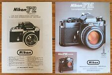 NIKON F2 FM ADS 1970s Vintage Advertising Prints Photography Camara Camera photo