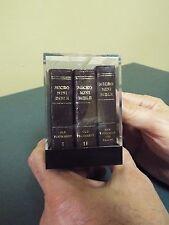 3 Volume Micro-mini Bible - Old and New Testament - Circa 1980