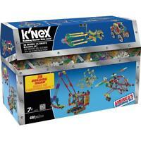 Knex 12418 Set Kiste 480 Steine Steck Spiel Bausteine 35 Modelle Auto Schiffe