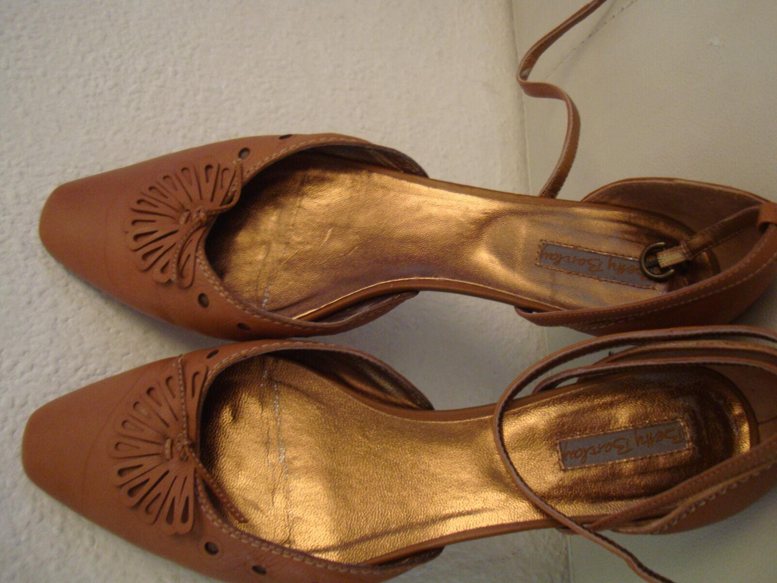 Betty Barclay Marken-Ballerina hell-braun Damen-Schuhe in Größe 41