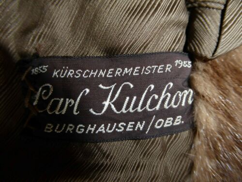 Nerzmantel in ausgezeichnetem Zustand; Schneideratelier Kürschnermeister Kulchon