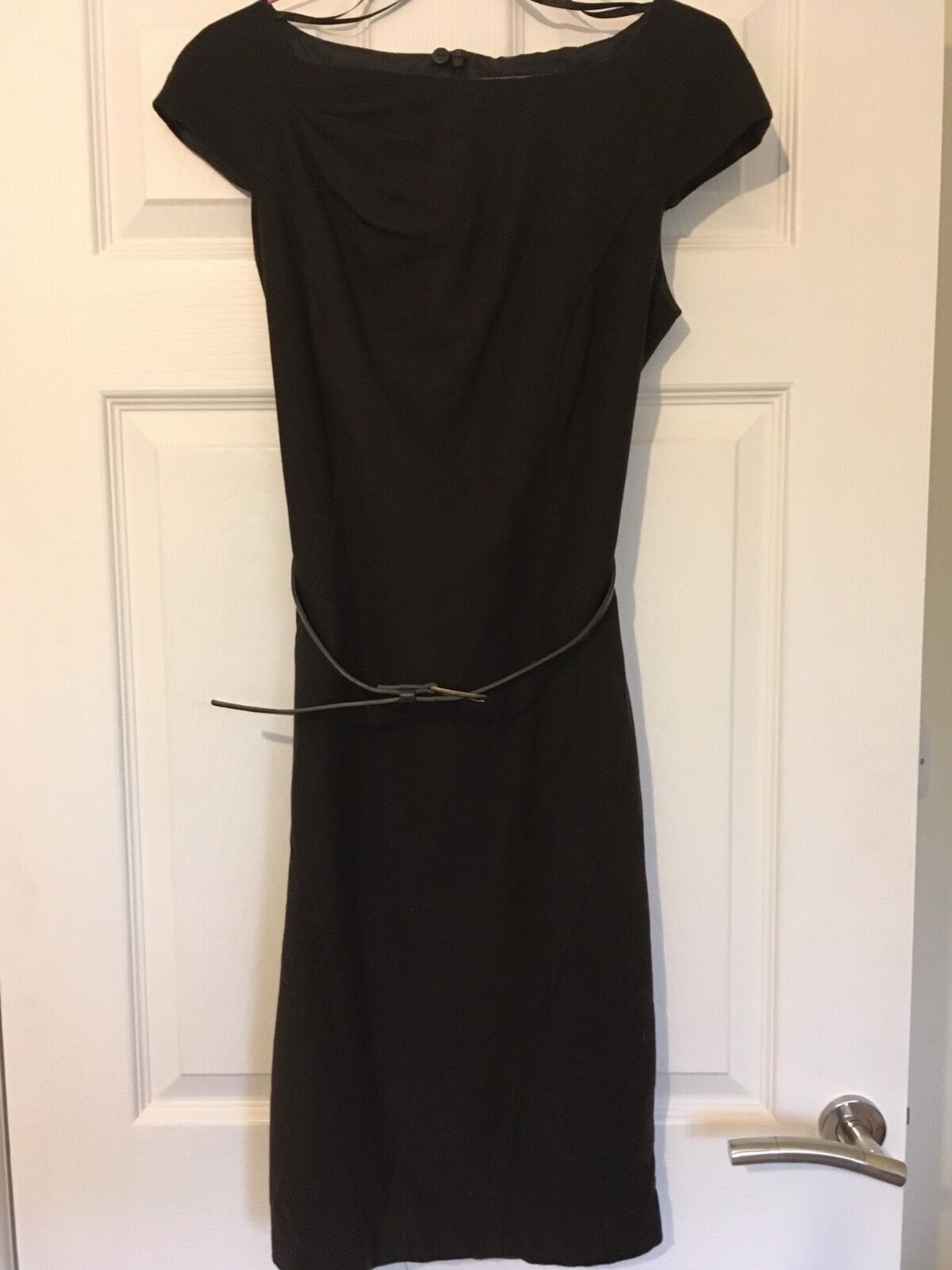 Next chocolate brown pencil work dress with belt size 8 XS