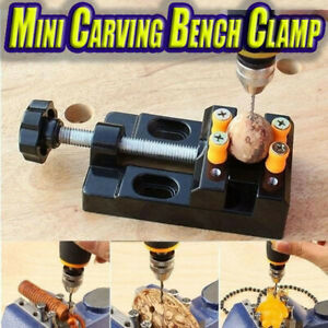 Mini Bench Clamp Micro Drill Press Vice Fixed Clip Flat Vise Carving Holder New
