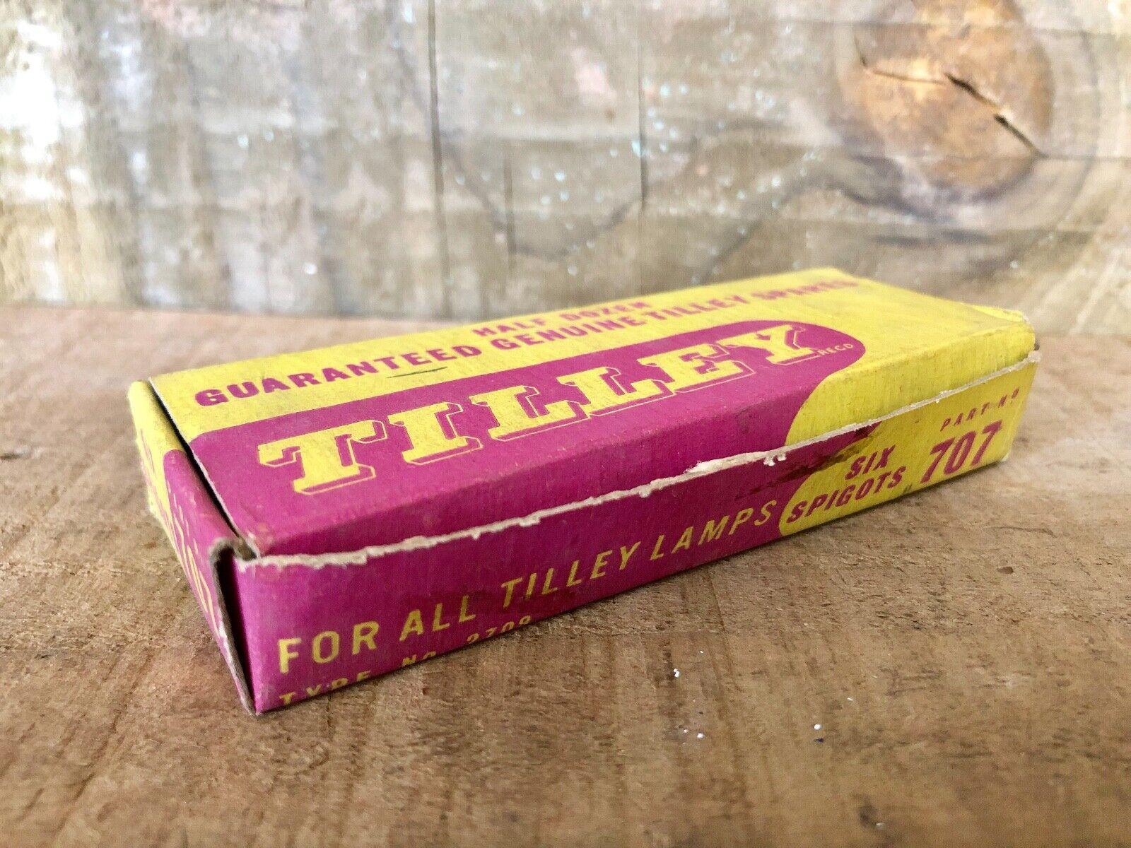 VINTAGE NOS FULL BOX 6 GENUINE TILLEY 707 MANTLE  SUPPORT SPIGOT COLLECTABLE  deals sale