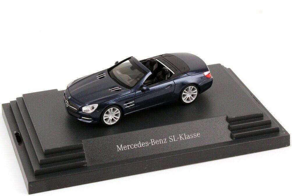 Molto RARO MERCEDES SL 500 R231 canvasite Blu 2012 1 87 Herpa (modello concessionario)