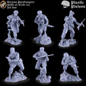 Soldatini di Plastic Platoon Paracadutisti tedeschi Battaglia di Creta 1/32 # 2