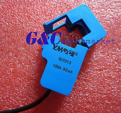 2 PCS  SCT-013-000 Non-invasive AC Current Sensor Clamp Sensor 100A NEW