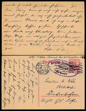 BELGIUM WW1 OCCUPATION STATIONERY to NELS in DIEDENHOFEN 1916