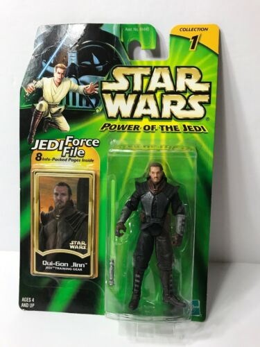 '00 Star Wars Qui-Gon Jinn Jedi Training Gear Power Of The Jedi Hasbro Figure