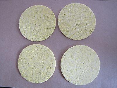10pcs Soldering Iron Solder Tip Welding Cleaning Sponge Yellow Diameter:5cm
