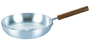 Super-Aluminium-Frying-Pan-Wooden-Handle-Best-Quality-Chef-039-s-Skillet-Curry-Pan