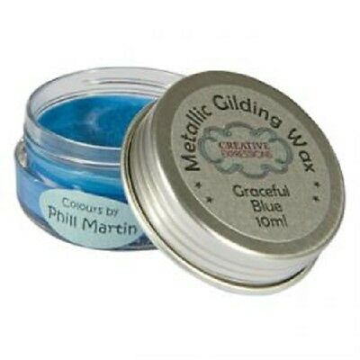 PHIL MARTIN Creative Expressions METALLIC GILDING WAX 10ml Pot GRACEFUL BLUE