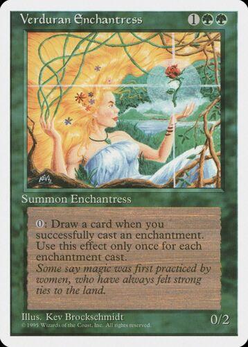 Verduran Enchantress 4th Edition NM Green Rare MAGIC THE GATHERING CARD ABUGames