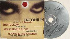 LED ZEPPELIN CD Encomium - A Tribute UK PROMO Sampler SHERYL CROW , Stone Temple