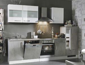 Komplettküche Mit E Geräten : k chenblock 280 cm mit e ger ten komplett betonoptik wei ~ A.2002-acura-tl-radio.info Haus und Dekorationen