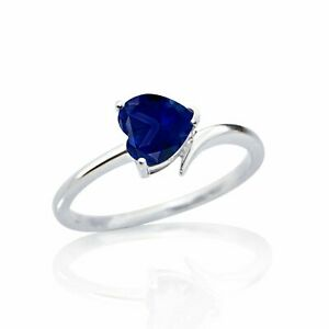 925-Solid-Silver-Natural-Certified-3-25-Carat-Blue-Sapphire-Engagement-Ring