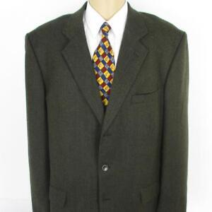 46 L Joseph Feiss Braun Tweed Reine Wolle 3 Knöpfe Herrenjacke Sport Mantel Eine GroßE Auswahl An Farben Und Designs