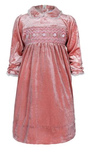 "LIMITED Aurora Royal /""Rose Petal/"" Blush Hand Smocked Dress"