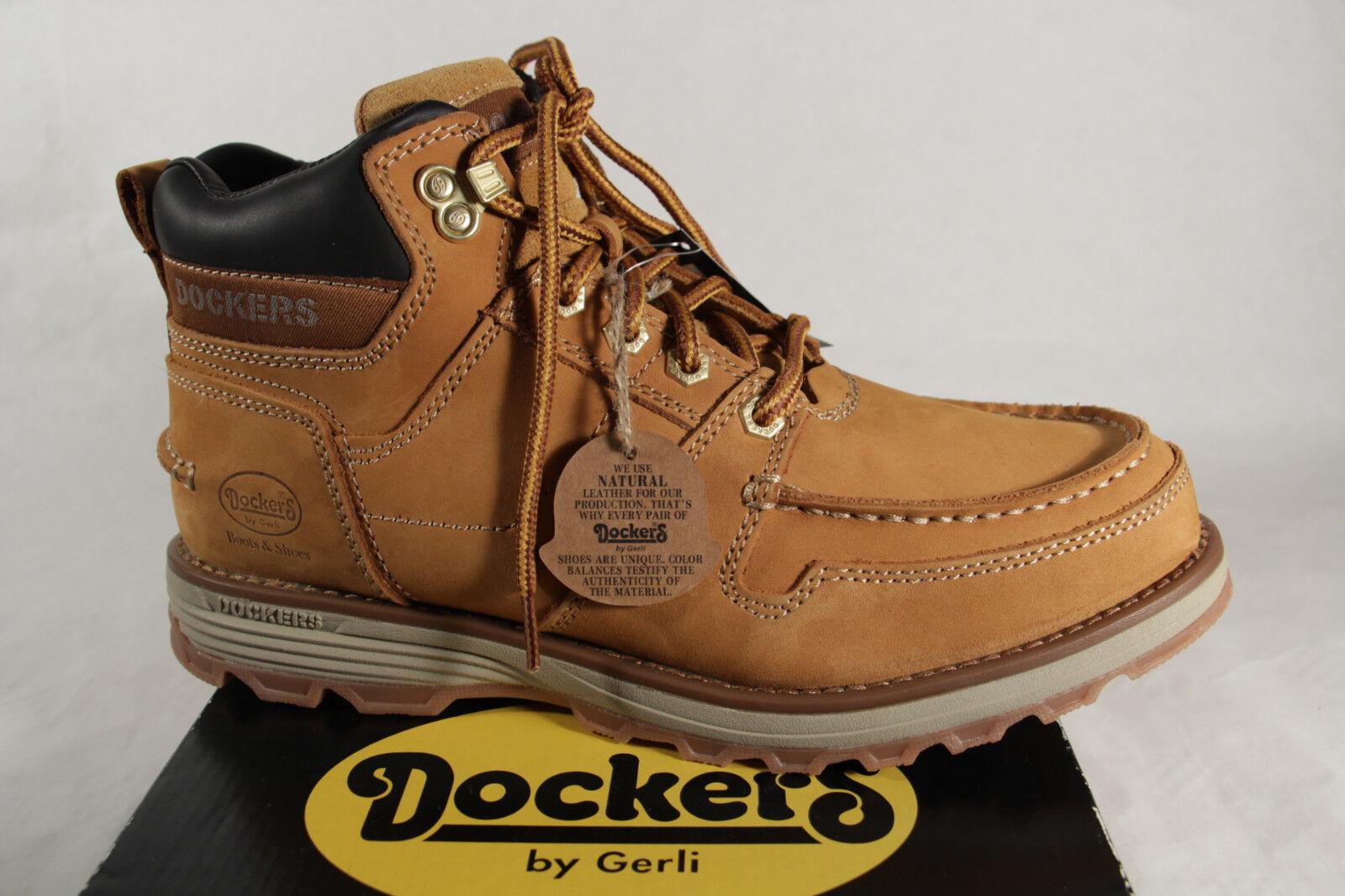 Dockers Stiefel Schnürstiefel Boots Winterstiefel gelb Leder NEU