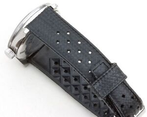 NOS-19mm-perforated-rubber-vintage-divers-watch-band-EBAY-039-s-best-price-100-sold