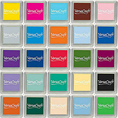 VERSACRAFT SQUARE RAISED ARCHIVAL RUBBER STAMP INK PAD 29 COLOURS TO CHOOSE FROM