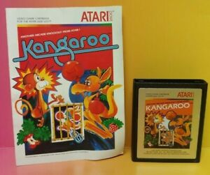 Atari-2600-Kangaroo-Game-amp-Instruction-Manual-Tested-Works-Rare