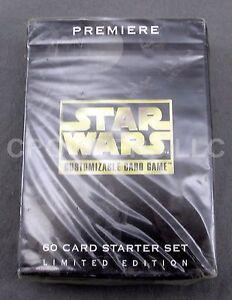 Premiere Star Wars Customizable Card Game 60 Card Starter Set Limited Edition 95 Verzamelingen