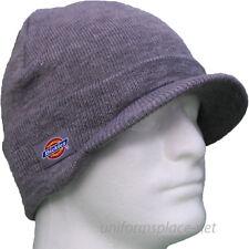 f825bb104fb38 Dickies Beanie Hat Men Billed Knit Cap w cuff Double Layered Visor Winter  Hats.