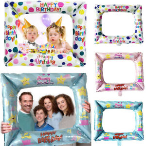 Kids-Girls-Birthday-Party-Selfie-Inflatable-Foil-Photo-Frame-Photo-Booth-Prop