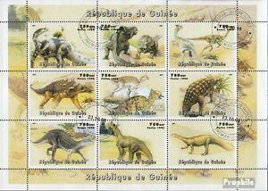 Guinea-19981P1-Kleinbogen-kompl-Ausg-gestempelt-1998-Praehistorische-Tiere