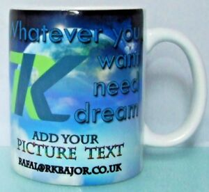 Personalised Mug texte photo logo Custom Design First Class Cadeau de Noël  </span>