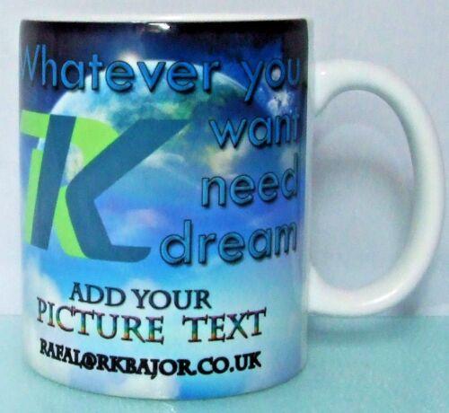 Personalised Mug texte photo logo Custom Design First Class Cadeau de Noël