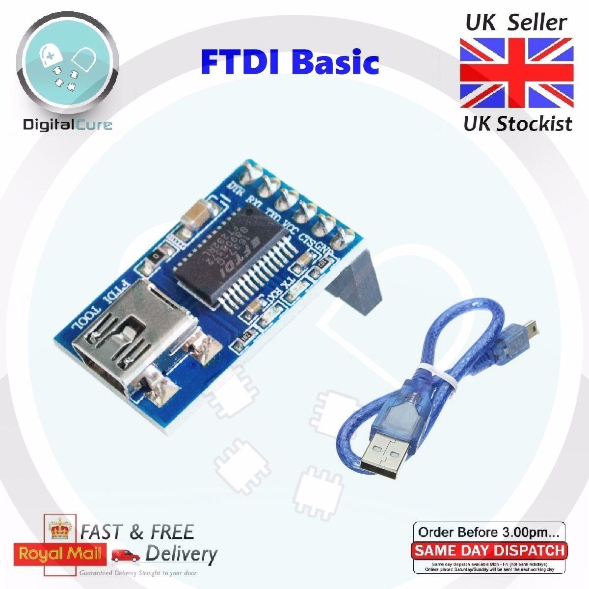 FTDI Compatible FT232RL Basic Breakout USB TTL w wo USB cable- Minim OSD Arduino