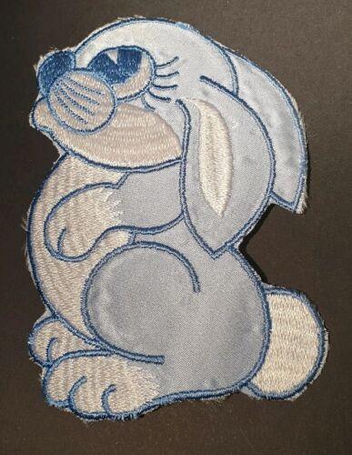 Blue Conejo Bunny//Hierro En Parche bordado para coser