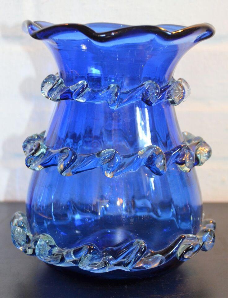 Glas, mundblæst vase