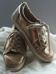 Rose Gold Animal Print Pumps/Trainers