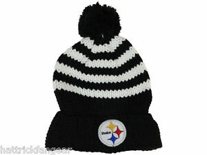 894ac153142a98 Pittsburgh Steelers New Era Women's NFL Football Striped Pom Pom ...