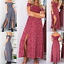 Women-039-s-Summer-Casual-Off-Shoulder-Floral-Long-Slits-Maxi-Dress-Beach-Sundress thumbnail 1