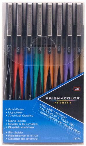 Prismacolor Premier Illustration Fine Line Markers 05 nib 8 Colors Archival