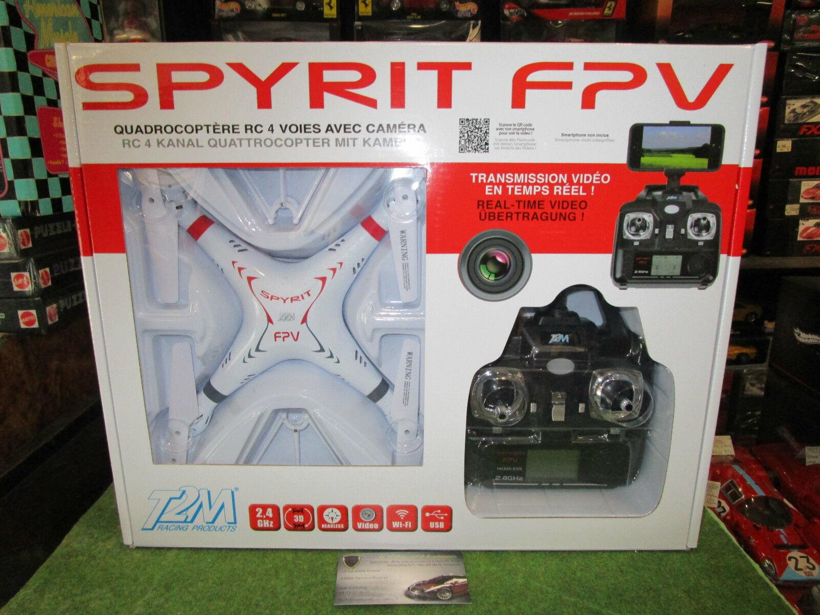 DRONE SPYRIT FVP QUADROCOPTERE RC 4 VOIES AVEC CAMERA T5166