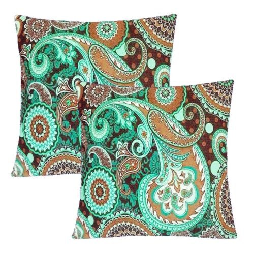 """2 Pack 16x16/"""" Bohemian Fancy Throw PILLOW COVER Sofa Couch Bed Decorative Case"""