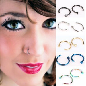 1x Unisex False Septum Clip on Non Piercing Swirls Septum Nose Ring Faux Clicker