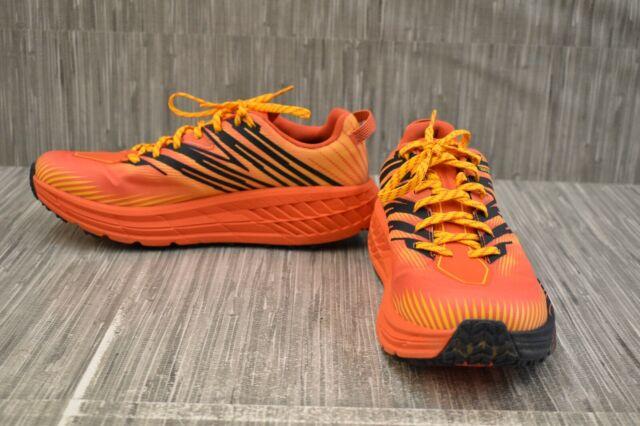 Hoka One One Speedgoat 4 GTX 1106530 Running Shoes, Men's Size 9.5, Orange