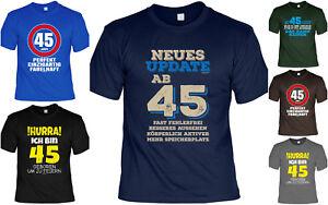 Details Zu 45geburtstag T Shirt Sprücheshirt Geburtstag 45 Jahre Sprüche Geschenkshirt