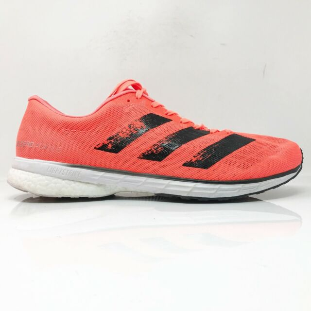 Adidas Mens Adizero Adios 5 EG1196 Orange Running Shoes Lace Up Low Top Size 12