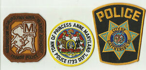 Transit-Authority-Princess-Anne-Gaithersburg-MARYLAND-Police-Patches